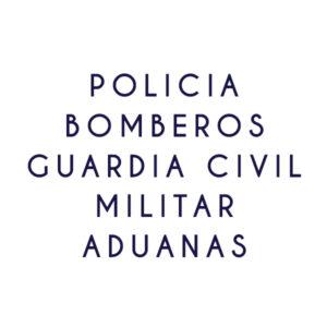 Policia-GC-Bomberos-Militar-Aduanas